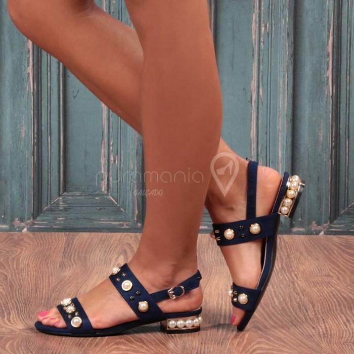 Sandália PEROLA Azul