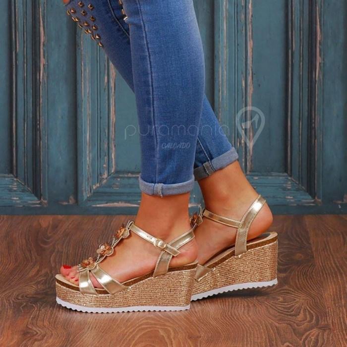 Sandália PRAIA Dourado