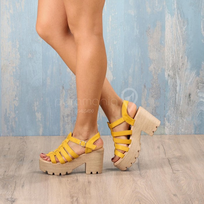 Sandália PAVLOVA Amarelo