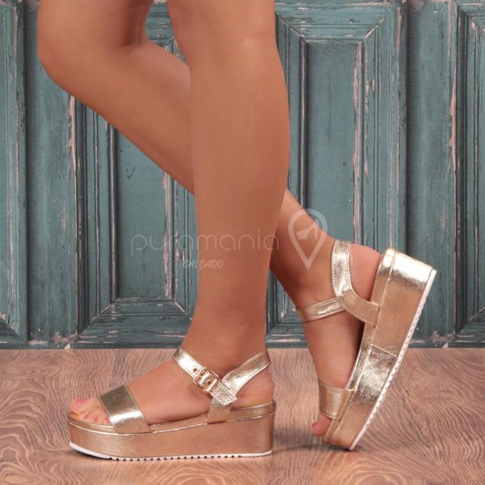 Sandália CUBE Dourado