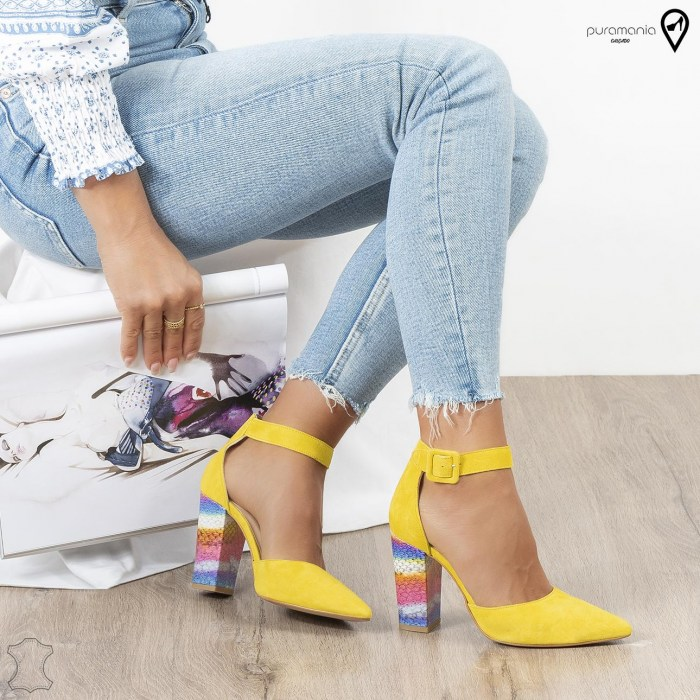 Sapato TOP DESIGN Amarelo